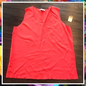 Coldwater Creek NWT Coral Palazzo Knit Shell